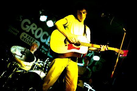 Max Gabriel performing at Arlene's, New York City