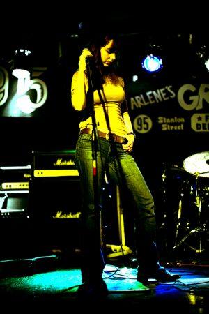 Jenna Friedenberg, rockstar, singing at Arlene's